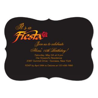 "Fiesta Rose Invitation 5"" X 7"" Invitation Card"