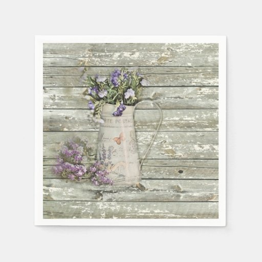 fiesta rústico de madera del granero floral occide servilleta de papel