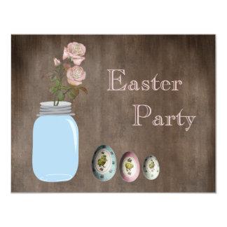 Fiesta rústico de Pascua del tarro de albañil, de