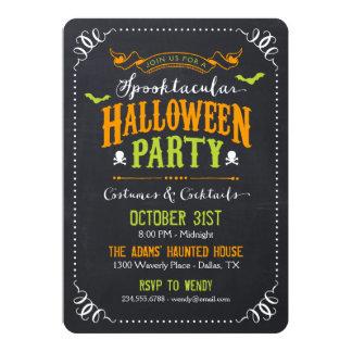 """Fiesta rústico de Spooktacular Halloween de la Invitación 5"""" X 7"""""""
