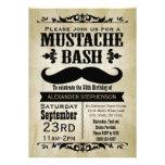 Fiesta rústico del golpe del bigote del vintage invitación