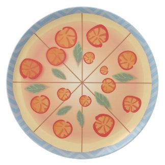 Fiesta sabroso de la pizza de Margarita Plato Para Fiesta