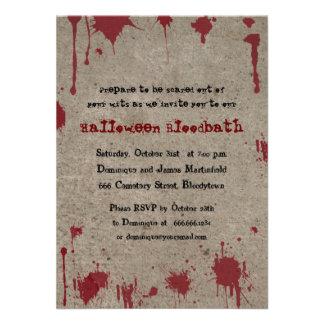 Fiesta sangriento de Halloween Invitación