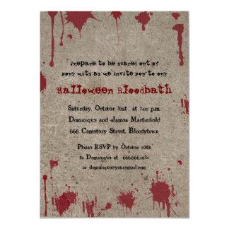"""Fiesta sangriento de Halloween Invitación 4.5"""" X 6.25"""""""