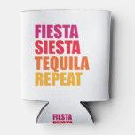 Fiesta, Siesta,Tequila Bachelorette Vacation Can Cooler