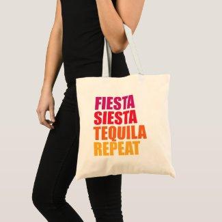 Fiesta, Siesta,Tequila Bachelorette Vacation Tote Bag