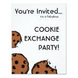 Fiesta simple del intercambio de la galleta invitaciones personalizada