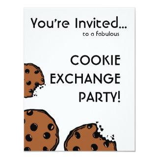 Fiesta simple del intercambio de la galleta invitación 10,8 x 13,9 cm