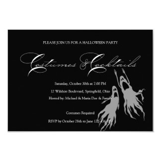 Fiesta simple y clásico del traje de Halloween Invitación 8,9 X 12,7 Cm