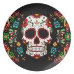 Fiesta Skull Melamine Plate