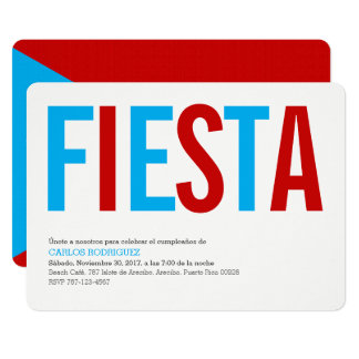 Fiesta: Sky: Puerto Rico Flag Invitation