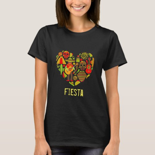 Fiesta slogan Mexican day of the dead Mexico T_Shirt