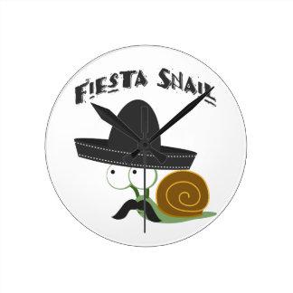 Fiesta Snail Round Clock