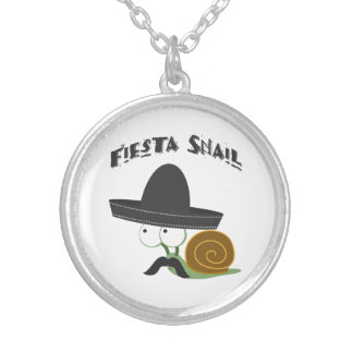 Fiesta Snail Silver Plated Necklace
