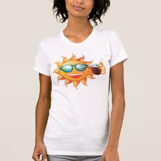 fiesta soleado de la playa de la diversión del sol camisetas