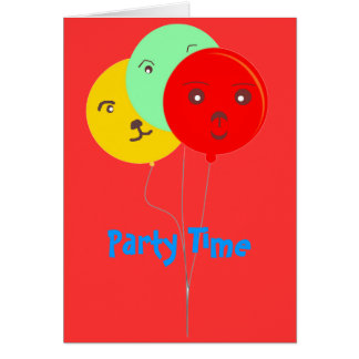 Fiesta sonriente RSVP de los globos brillantes Tarjeta Pequeña