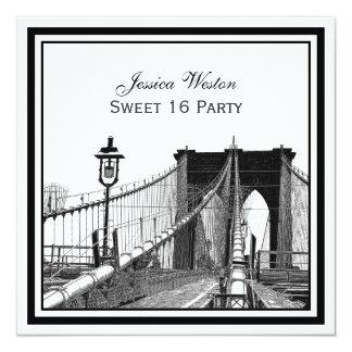Fiesta SQ del dulce 16 del puente de Brooklyn del Invitación 13,3 Cm X 13,3cm