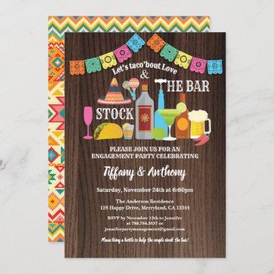 Fiesta stock the bar invitation couples shower