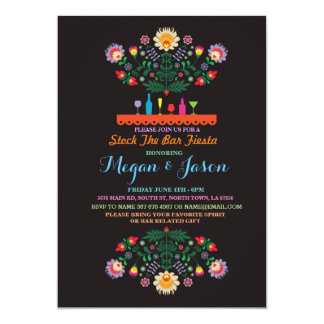 Fiesta Stock The Bar Mexico Couples Invitation