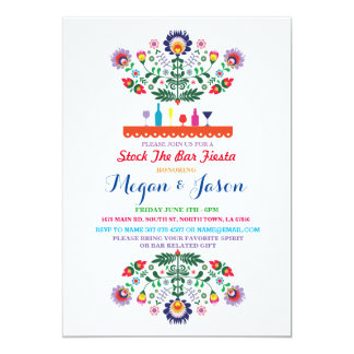 Fiesta Stock The Bar Mexico Engagement Invitation