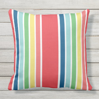 Fiesta Striped Double Sided Outdoor Pillow