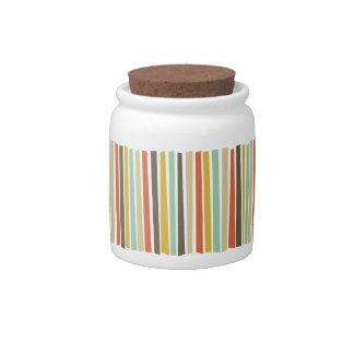 Fiesta Stripes Candy Jar
