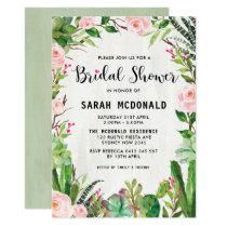 Fiesta Succulent Cactus Bridal Shower Invitation