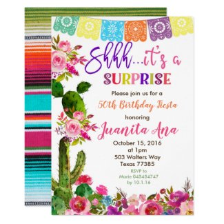 Fiesta Surprise Birthday Party Invitation