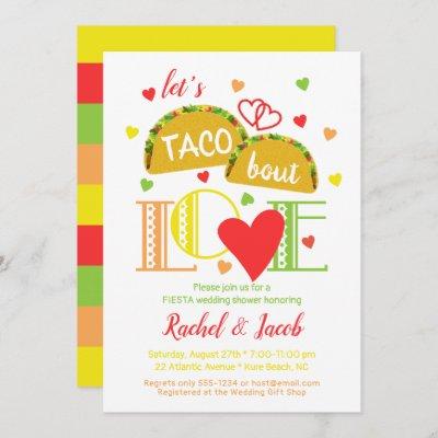 Fiesta Taco Bout Love Bridal Shower Invitation