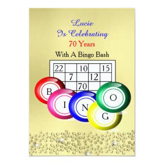 Fiesta temático del bingo colorido de la diversión invitación 12,7 x 17,8 cm
