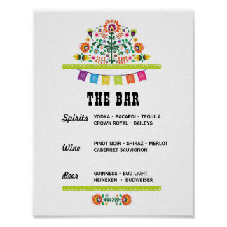Fiesta The Bar Party Event Sign Engagement Shower