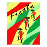 "Fiesta Theme Party Invitation Colorful Streamers 4.25"" X 5.5"" Invitation Card"