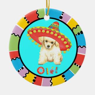 Fiesta Toy Poodle Ceramic Ornament