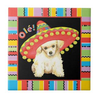 Fiesta Toy Poodle Ceramic Tile