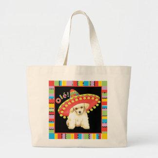 Fiesta Toy Poodle Large Tote Bag