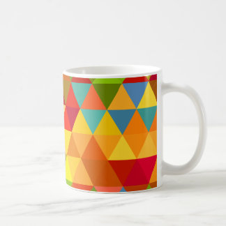 Fiesta Triangle Geometric Fractal Pattern Coffee Mug