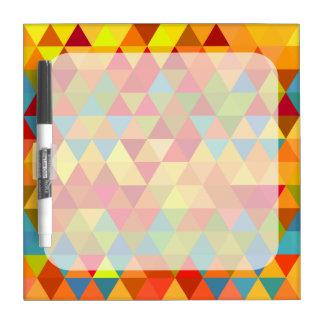 Fiesta Triangle Geometric Fractal Pattern Dry-Erase Board