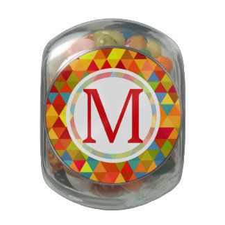 Fiesta Triangle Geometric Fractal Pattern Glass Jars