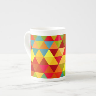 Fiesta Triangle Geometric Fractal Pattern Tea Cup