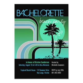 Fiesta tropical de Bachelorette de la palmera de Invitacion Personalizada