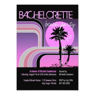 Fiesta tropical de Bachelorette de la palmera de Invitaciones Personalizada