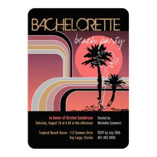 """Fiesta tropical de Bachelorette de la palmera de Invitación 4.5"""" X 6.25"""""""