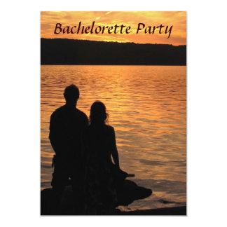 Fiesta tropical de Bachelorette de la puesta del Invitaciones Personalizada