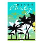 Fiesta tropical de la playa invitación 12,7 x 17,8 cm
