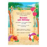 Fiesta tropical de la playa invitación