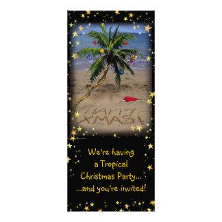Fiesta tropical de Navidad Invitacion Personal