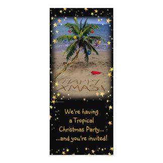 """Fiesta tropical de Navidad Invitación 4"""" X 9.25"""""""