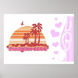 fiesta tropical del bachelorette de Hawaii de las  Poster