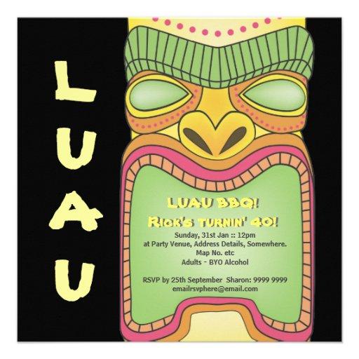 Fiesta tropical hawaiano de la playa del tema de T Comunicados Personalizados