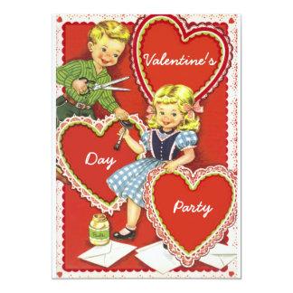 Fiesta V2 del día de San Valentín del vintage Anuncio